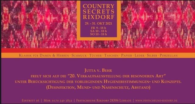 Country secret Rixdorf – Oktober 2021