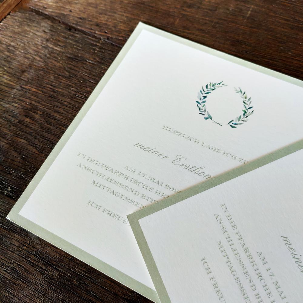 Einladungskarte Erstkommunion