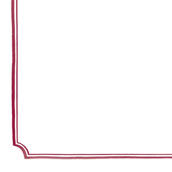 Doppelrahmen Ecken gezeichnet