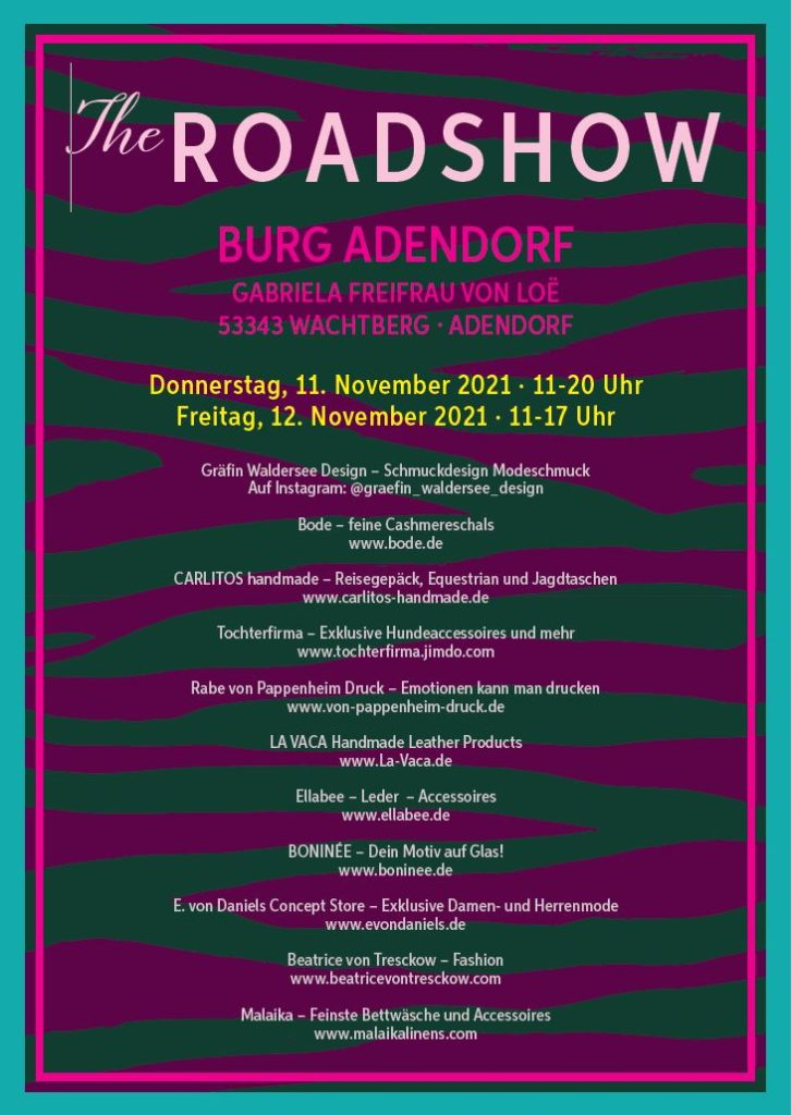 The Roadshow Burg Adendorf – November 2021