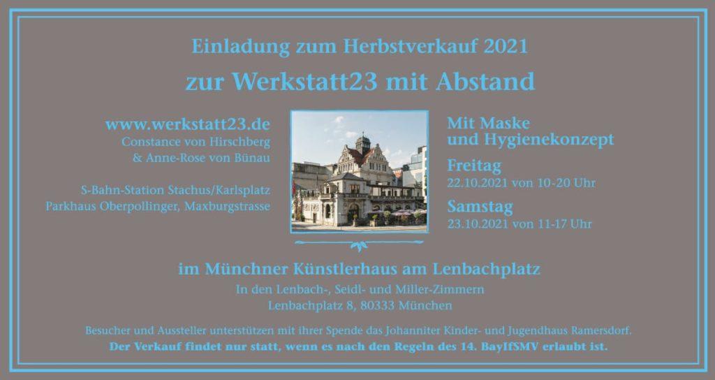 Werkstatt 23 München – Oktober 2021