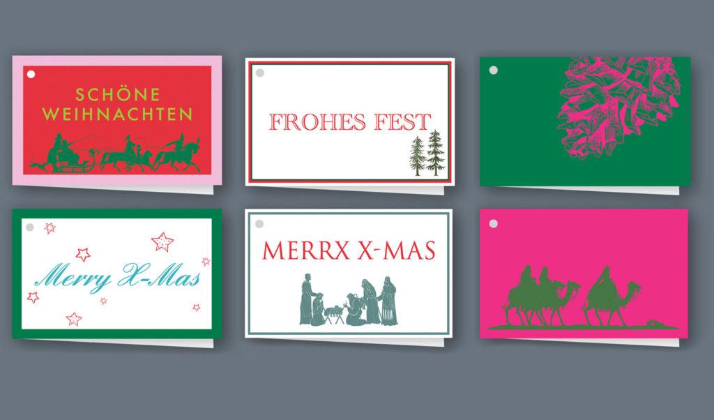 Exklusive Geschenkanhänger für Weihnachten bestellen